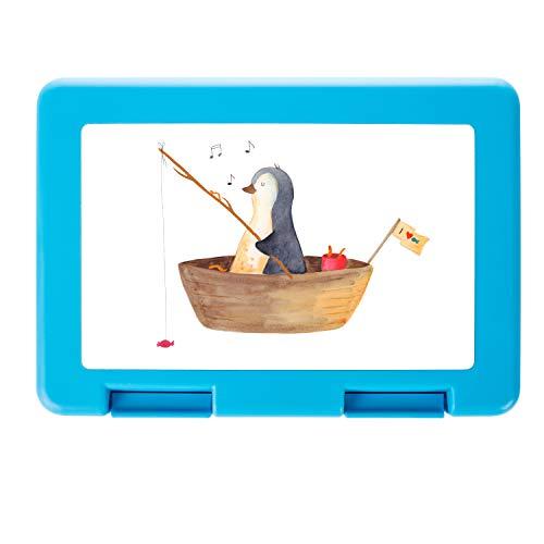 Mr. & Mrs. Panda stabil, Essendose, Brotdose Pinguin Angelboot - Farbe Weiß