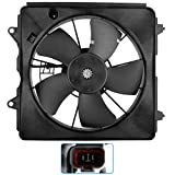 BOXI 620-253 Radiator Cooling Fan Engine Motor Assembly Compatible with 2006 2007 2008 2009 2010 2011 Honda Civic 1.8L with 5-Speed Automatic Transmission (Replaces 19015-RNA-A01 HO3117100)