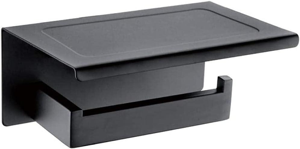 LJQJYFCToilet Cheap mail order shopping Roll Soldering Holder Two Colors Black Toile Chrome Bathroom