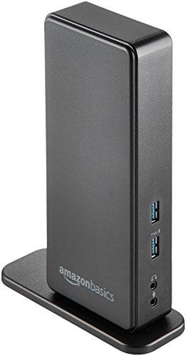 Amazon Basics USB 3.0 Universal Laptop Dual Monitor Docking Station