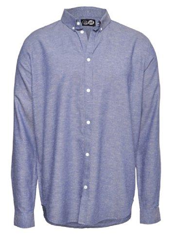 Cheap Monday Damon BD Shirt Camicie Uomini Blu - XS - Camicie Maniche Lunghe