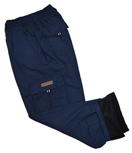 thb Richter Herren Thermohose Cargo Fleecefutter Cargohose Winter Hose Pants Winterhose Work Arbeitshose Fleece warm gefüttert Men's (XL, Navy)