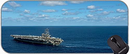 XXL Large Size Mouse Pads,Military USS Ronald Reagan (CVN 76) Warship Non-Slip Rubber Base Mousepad