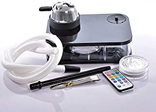 Portable Acrylic Arab Hookah Set Durable Heating Control Hookah Shisha Bowl Silicone Pipe Gifts🌵