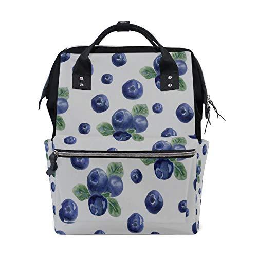 Bright Blue Natural Fresh Blueberry Große Kapazität Windel Taschen Mummy Rucksack Multi Funktionen Wickeltasche Tasche Handtasche Für Kinder Babypflege Reise Täglichen Frauen