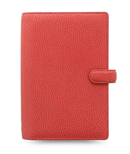 Filofax 025552 - Agenda organizer Finsbury Personal Coral, formato A6, in pelle, colore: Rosso