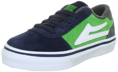 Lakai Herren Manchester Kids Fashion Sneakers, Blau (Navy Green Suede A0821), 33 EU