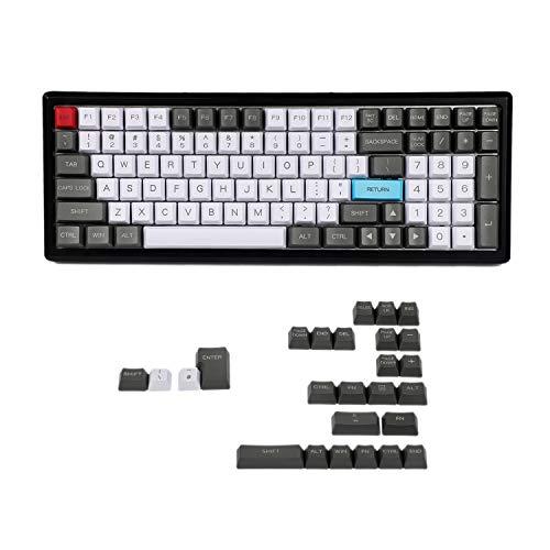 Juego de llaves YMDK 96 84 ANSI ISO perfil OEM PBT grueso para teclado mecánico Cherry MX YMD96 RS96 KBD75 YMD75 FC980M (solo teclado) Blanco gris rojo 125 teclas
