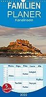 Kanalinseln - Familienplaner hoch (Wandkalender 2022 , 21 cm x 45 cm, hoch): Jersey, Guernsey, Alderney & Sark (Monatskalender, 14 Seiten )