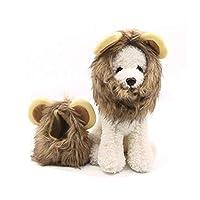 ACHICOO 猫かつら 帽子 犬用 小さな耳 ライオンの形 コスプレ 衣装 かわいい S