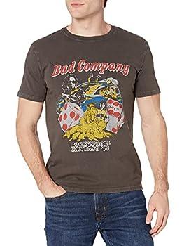 Lucky Brand Men s Short Sleeve Crew Neck Bad Company Tee Raven XL