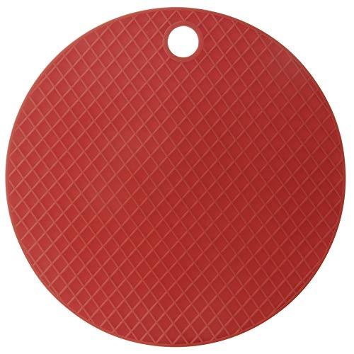 Descanso de Panela Redondo Silicone, Mimo Style, Vermelho