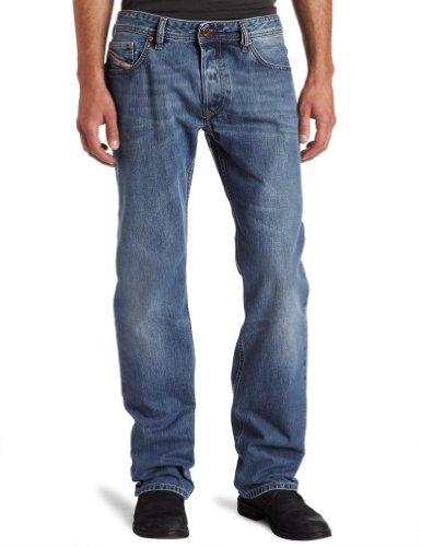 Diesel Herren Straight Jeans Larkee Pantaloni, Blau (Medium Blue 008XR), W30/L32