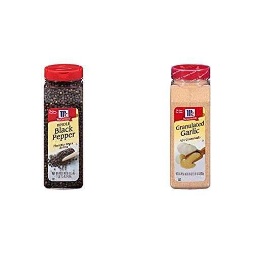 McCormick Whole Black Pepper (Made with Whole Peppercorns), 17.5 oz