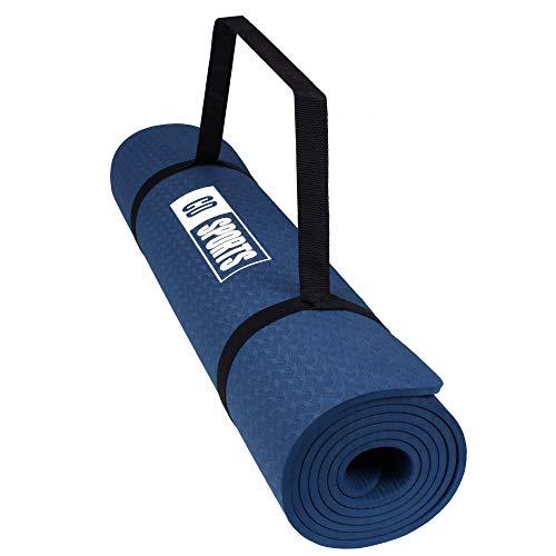 Calma Dragon Esterilla, Colchoneta de Yoga 89828, Antideslizante, Estera para Pilates, con Material ecológico, TPE Mat, diseñado para Entretenimiento y Entrenamiento físico (Azul 89828)