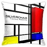 IUBBKI Silverchair Young Modern Throw Pillow Fundas de cojín 18x18 Pulgadas, Fundas de Almohada para sofá, Dormitorio, Coche, Vaquero
