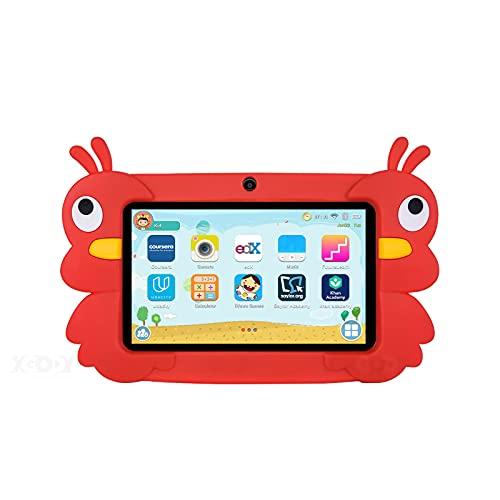 GAOword Tablet Tablet PC para niños HD de 7 Pulgadas HD Aprendizaje y educación Tablet PC con Caja de Silicona USB Carga Quad Core 1GB 16GB Mejores Regalos para niños