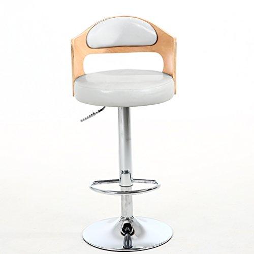 SZQ Barkruk van massief hout, retro rugleuning stoel liftable hoge kruk draaibare kassa cafe stoelen Home barkruk restaurant stoelen 60-80 cm gemengde stijl