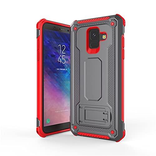 HJKKLL Fit For Samsung Galaxy A6, A8, 2018 Plus, Kickstand, A6, A8 Plus, 2018, A6 + A8 + A6plus Funda magnética a Prueba de Golpes(Color:Gray2,Size:A8Plus2018)