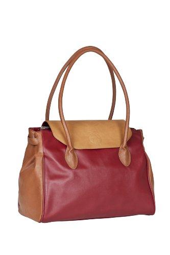 LÄSSIG Baby Wickeltasche Babytasche Kliniktasche Stylische Tasche Mama inkl. Wickelzubehör/Tender Boston Bag, red dragon
