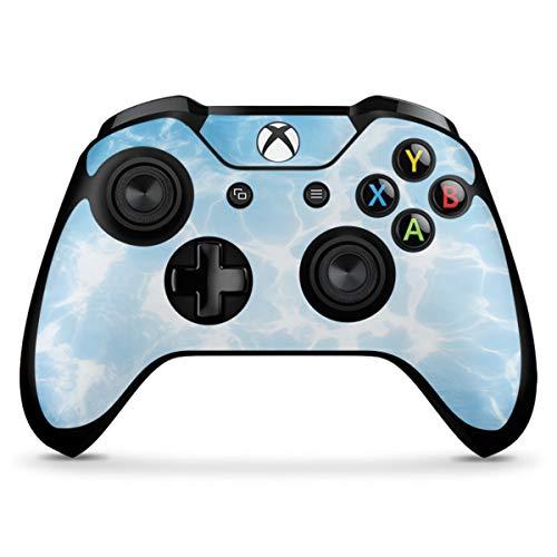 DeinDesign Skin kompatibel mit Microsoft Xbox One X Controller Folie Sticker Schwimmen Pool Sommer