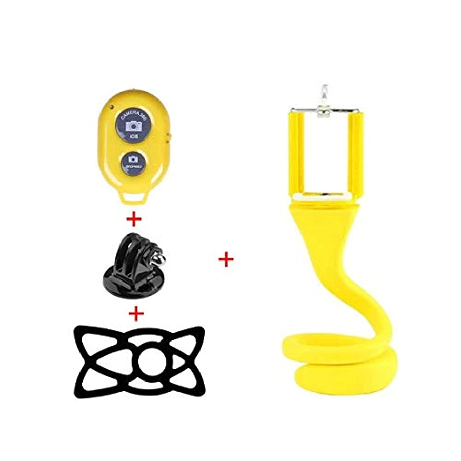 読みやすいクラブ振幅Aaaysm Lazy Mobile Phone Selfie Stick Tripod Creative Camera Bracket Desktop Bedside Multifunctional Phone Clip(Yellow) CC...