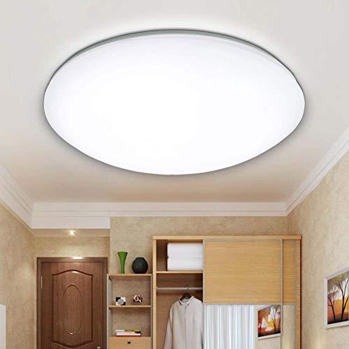 & Lamparas de techo Luces de techo de panel LED Lámpara de techo de pasillo redondo moderno 6500K Accesorios de iluminación de techo de montaje empotrado de acrílico blanco for iluminación de sala [Cl
