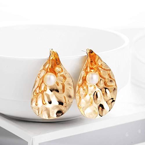 N-B Summer Style Golden Drop Earrings For Women Geomatric Black Long Hanging Earring Triangle BTS Jewelry Earing Bijouterie