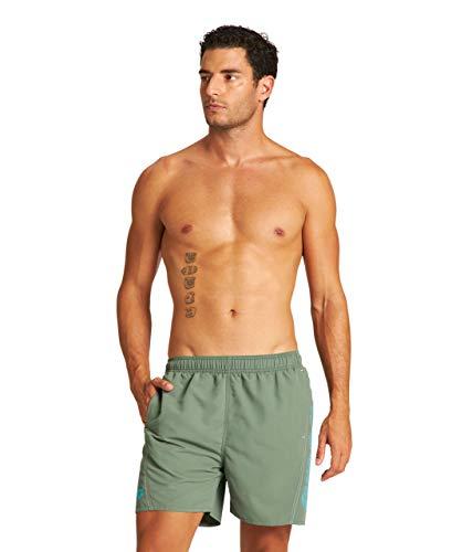 ARENA Fundamentals Logo Costume Uomo Mare e Piscina, Costume da Bagno in Morbido Tessuto ad Asciugatura Rapida, Boxer Mare con Slip Interno in Rete