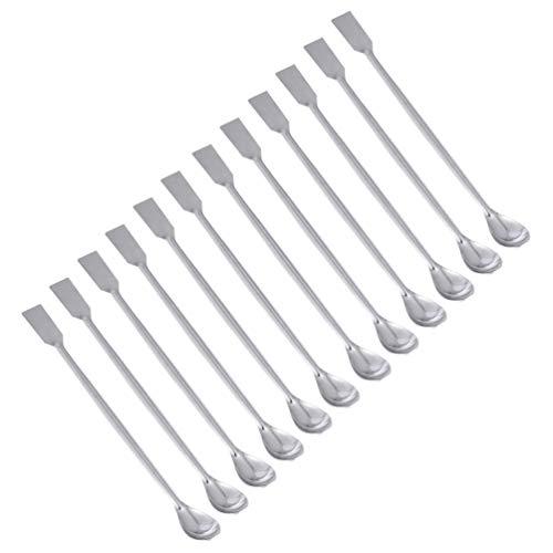 iplusmile 12PCS Laborspatel aus rostfreiem Stahl, 20 cm Mikroschaufel, Laborlöffel, Laborprobenlöffel Mischspatel für Pulver Gelkappenfüller