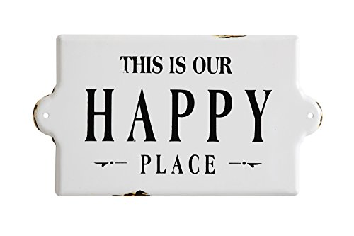 Creative Co-Op This is Our Happy Place Metal Wall Plaque