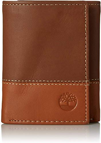 Image of the Timberland Mens Leather Trifold Wallet With ID Window