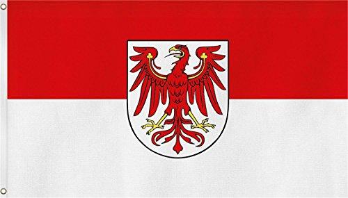 normani TOP QUALITÄT !! Fahne Flagge, Grösse: ca. 90x150 cm, Ordentliche Stoffqualität - Stoffgewicht ca. 110 gr/m2 Farbe Brandenburg