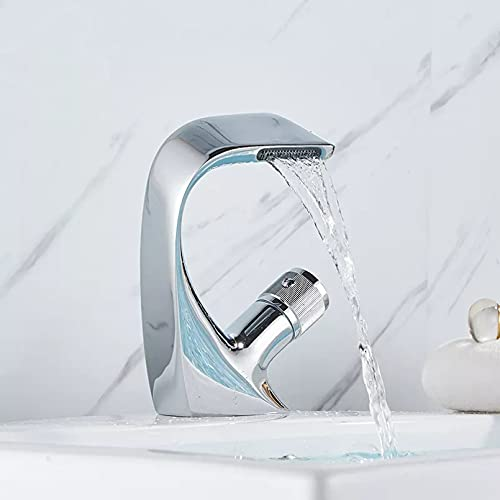 YHSGY Grifo De Agua Para Fregadero De Lavabo Pulido Grifo De Una Sola Palanca Mezclador De Orificio Para Lavabo Montado En La Cubierta Grifo De Baño