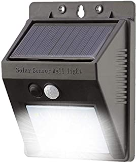20 LED Solar Powered Security Light - Waterproof and Comes with Built-in PIR Motion and Night Sensor - Lamp for Outdoor, Garden, Fence, Patio, Yard, Walkway, Driveway, Stairs, Outside, Wall, Garage