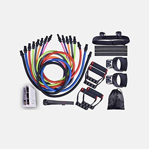 YLJYJ Exercise Bands Traction Rope Rope Fitness Training,Elastic Rope,Elastic rope, resistance equipment for men and women strength training fitness equipment, 19 piece set