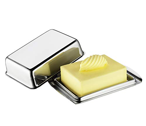 Küchenprofi Butterdose, Edelstahl, Silber