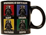 N\A Tazza in Ceramica Darth Vader di Star Wars Silver Buffalo sw7732, Nero