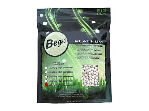 BEGADI 3.000 Platinum Grade Bio Airsoft BBS, mehrfach poliert & speziell gehärtet 6mm, 0,32g -hell-