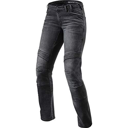 REV'IT! Motorrad Jeans Motorradhose Motorradjeans Jeans Moto Damen schwarz 27/32, Herren, Chopper/Cruiser, Ganzjährig