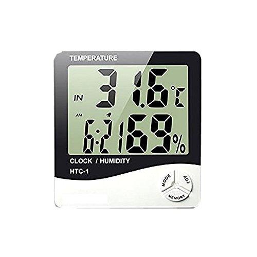 1stモール  「2台セット」ファイブスター 温湿度計 卓上 マルチ 温度計 湿度計 時計 アラーム 5機能搭載 スタンド 壁掛け兼用 ST-FIVEMACHIN