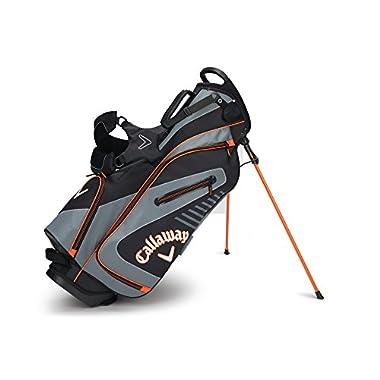 Callaway Golf 2017 Capital Stand Bag, Black/Charcoal/Orange
