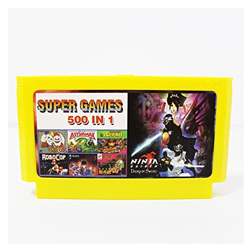 fleeting time GaoHR 500 en 1 Pocket Games 60 Pin Tarjeta de videojuega Apta para Jugador de Juegos de 8 bits HR