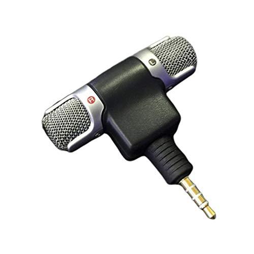 Mini Jack Micrófono Estéreo Micrófono para Grabar Teléfono Móvil Estudio Entrevista Micrófono para Smartphone