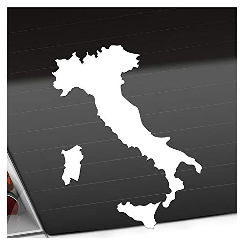 Kiwistar Italien Umriss Kontur Aufkleber Sticker 25 Farben Neon Matt