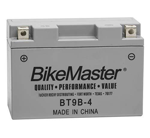 BikeMaster High-Performance Maintenance Free Battery BT9B-4 for Yamaha YZF-R6 2001-2005