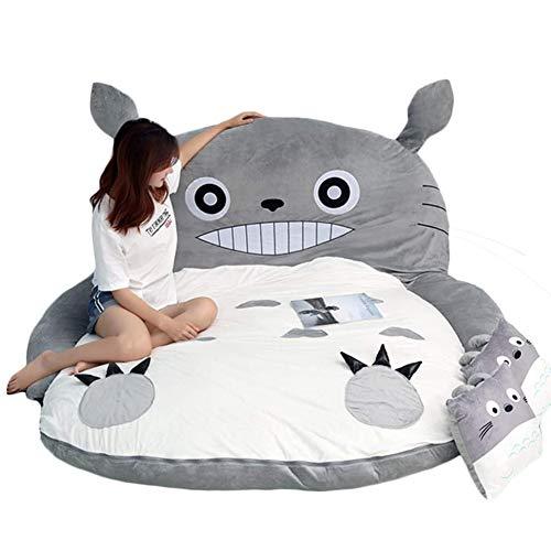 Totoro - Materasso morbido spesso a fascia, motivo: cartone animato, 2 x 1,7 m