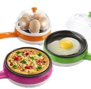 Sevia 2 In 1 Piece Compact And Versatile Egg Boiler And Non-Stick Electric Frying Pan (Multi Color)