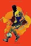 Notizbuch: Fussball Notizbuch A5 liniert | Notizheft | Tagebuch | Journal | Geschenk für Fussballer Fussballfans 2 | 120 Seiten