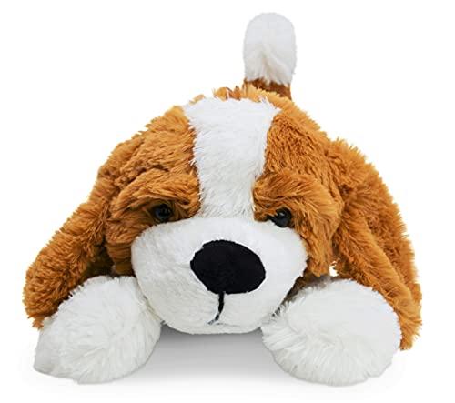 Landahl & Baumann liegender Hund Kuscheltier 47cm, Amy aus weichem Plüsch für alle Kinder und Hundeliebhaber